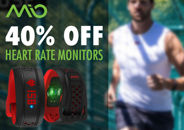 40% off Mio Heart Rate Monitors