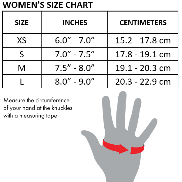Workout Gloves Size Chart: Nike Fundamental Womens Training Gloves