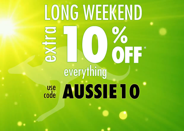 Long Weekend Extra 10% Off