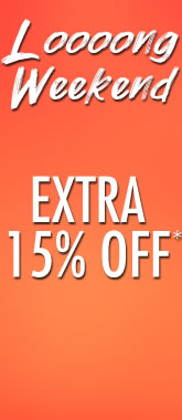 15% Off Loooong Weekend