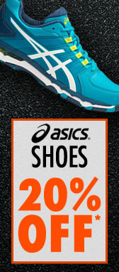 20% off Asics Shoes