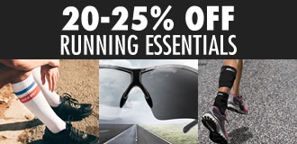 20-25% OFF Running Essentials